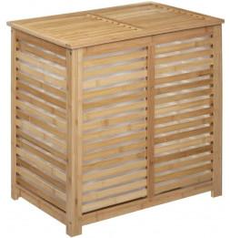 Panier à linge en bambou - Sicela - L 60 cm x 40 cm