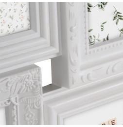 Cadre photo pêle-mêle, L 102,2 x l 2,3 cm - Blanc