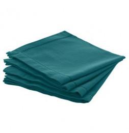 Lot de 4 serviette de table Chambray - L 40 cm x l 40 cm - Bleu