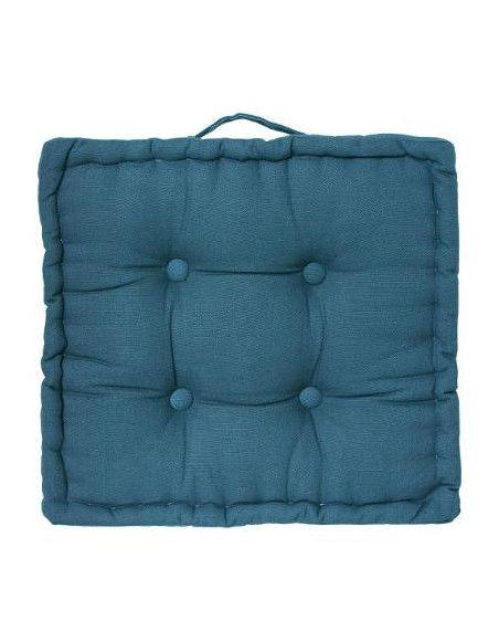 Coussin de sol en coton- L 40 cm x l 40 cm - Bleu