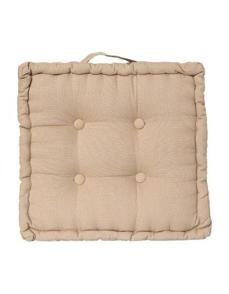 Coussin de sol en coton - L 40 cm x l 40 cm - Lin