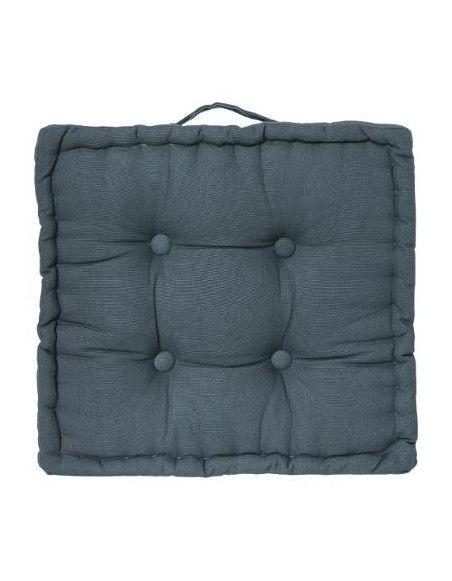 Coussin de sol en coton - L 40 cm x l 40 cm - Bleu