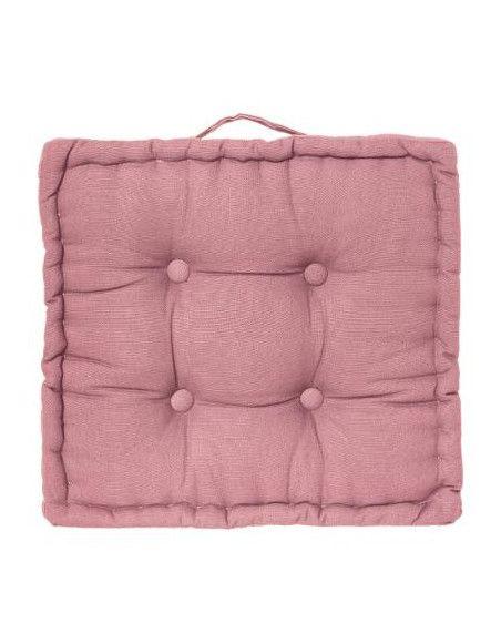 Coussin de sol en coton - L 40 cm x l 40 cm - Rose