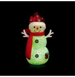 Bonhomme de neige lumineux - L 8,5 cm x l 8,5 cm