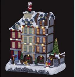Village de Noël - L 27 cm x l 18 cm - Magasins