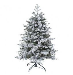 Sapin de Noël  floqué - D 99 cm x H 150 cm - Yukon -  Vert