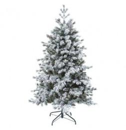 Sapin de Noël  floqué - D 117 cm x H 180 cm - Yukon -  Vert