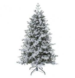 Sapin de Noël  floqué - D 137 cm x H 210 cm - Yukon -  Vert
