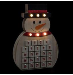 Calendrier de l'avent bonhomme de neige - L 28.5 cm x l 4.5 cm - Bois