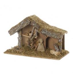 Crèche de Noël vide - L 38.5 cm x l 18 cm - Bois