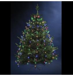 Guirlande lumineuse pour sapin 170 LED - D 8 cm x H 165 cm - Multicolore