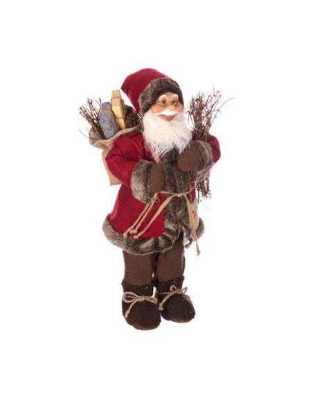 Père Noël traditionnel sur pied - L 22 cm x l 17 cm x H 45 cm
