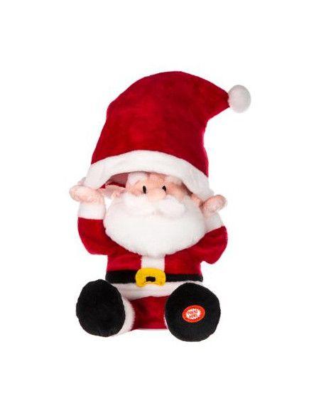 Automate Père Noël et son chapeau -  L 14 cm x l 15 cm x H 31 cm - Son et lumière