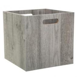 Bac de rangement en bois - 31 x 31 cm Mix - Gris