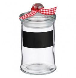 Lot de 6 pots à épices en verre - Noeud - D 6 cm x H 11 cm.