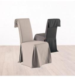 Housse de chaise ajustable - Beige - 100% coton