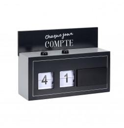 Flip flap - L 21 cm x l 5 cm x H 15 cm - Chaque jour compte - Noir