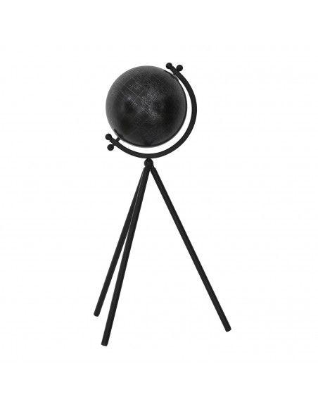 Globe terrestre sur trépieds - L 31,5 cm x l 20,5 cm x H 53,2 cm - Noir