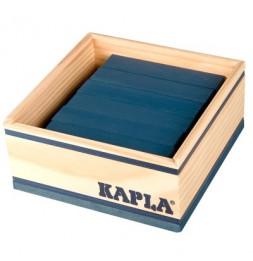 Kapla - Carré de 40 planchettes en bois - Bleu foncé