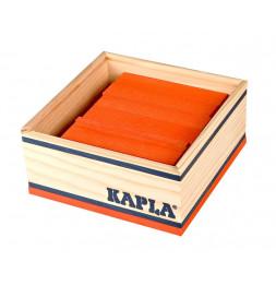 Kapla - Carré de 40 planchettes en bois - Orange