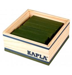 Kapla - Carré de 40 planchettes en bois - Vert