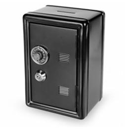 Coffre fort métal - Tirelire sécurisée - Noir