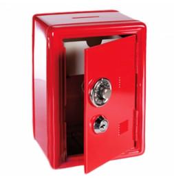 Coffre fort métal - Tirelire sécurisée - Rouge