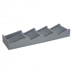 Organisateur tiroirs à couverts - L 39,5 cm x l 11 cm x H 5 cm - Gris