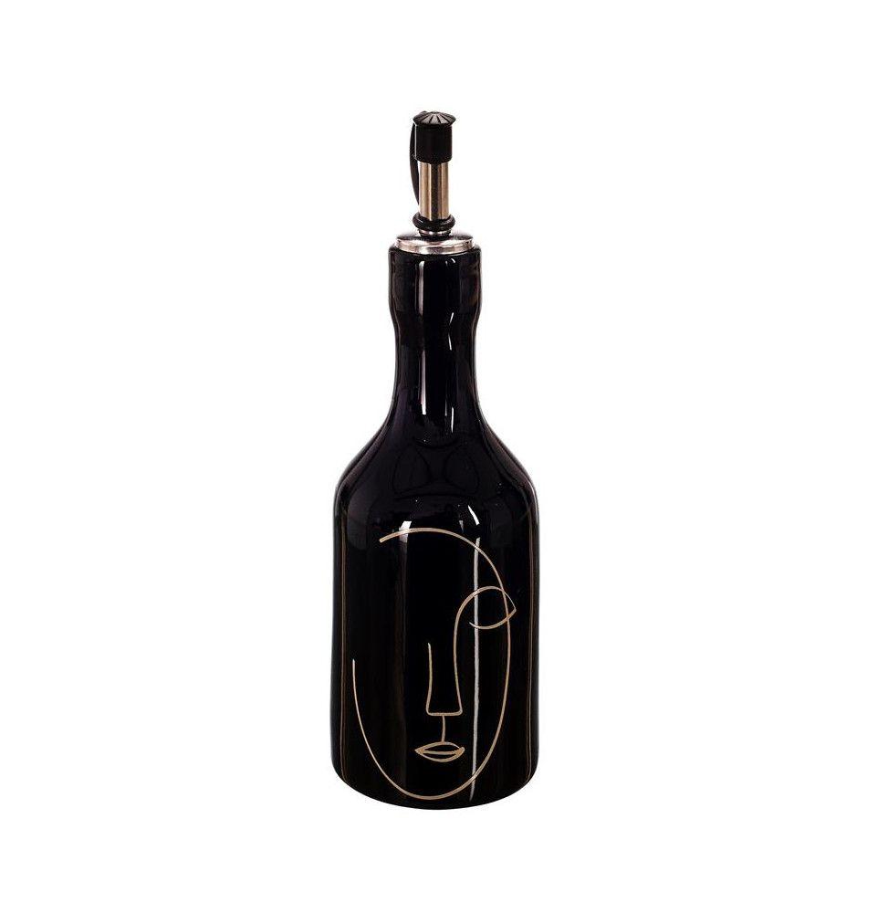 Bouteille à huile et vinaigre - D 8 cm x H 15 cm - Arty - Noir