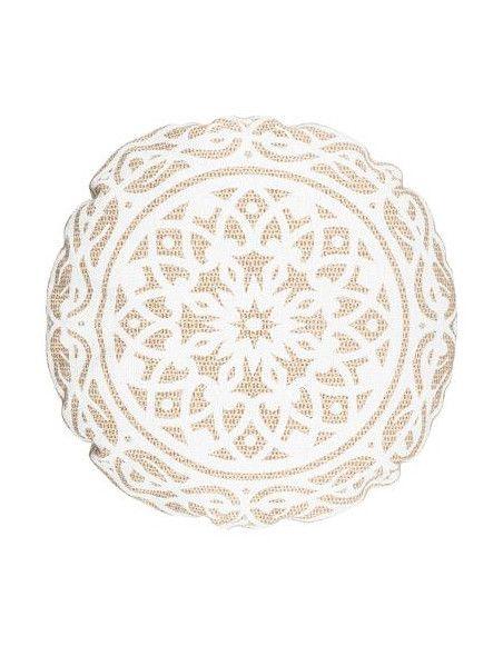 Coussin de sol - D 50 cm - Blanc