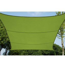 Voile d'ombrage rectangulaire - Vert - Toile solaire 3 x 4 m