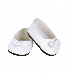 Ballerines blanches avec noeud blanc pour poupée de 39à48 cm - Vilac - Jeux et jouets
