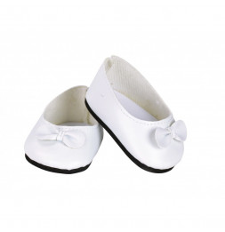 Ballerines blanches avec noeud blanc taille 28cm - Vilac - Jeux et jouets