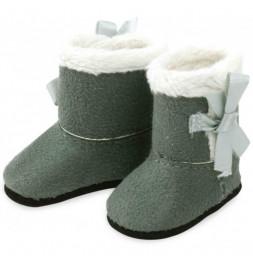 Bottes grises fourrées blanches pour poupée Minouche T.34cm - Vilac - Jeux et jouets