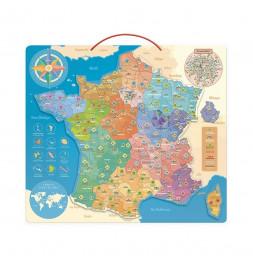 Carte de France éducative magnétique - Vilac - Jeux et jouets