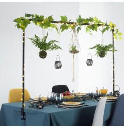 Barre extensible décoration de table - L 200 x H 100 cm - Fer