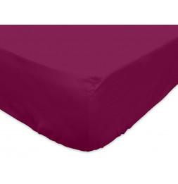 Drap housse 140 x 200 cm 100% coton - Violet - Linge de lit
