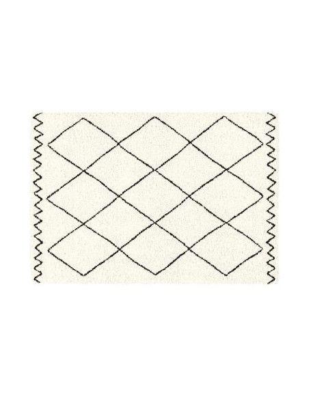 TAPIS RECTANGLE 60 x 110 CM POLYPROPYLENE SAOURA BEIGE