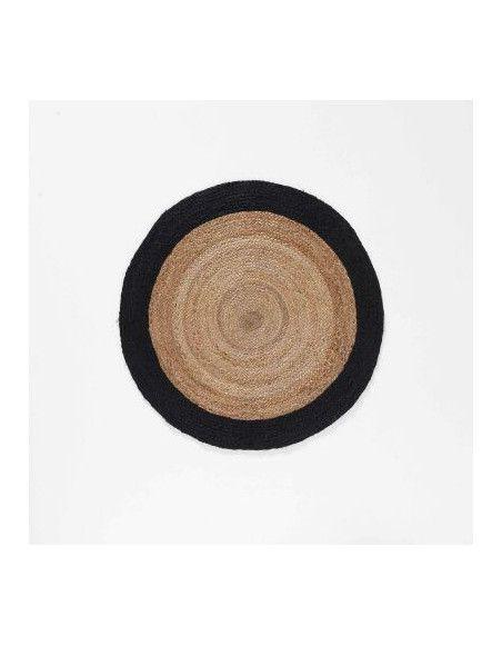 Tapis rond - D 90 cm - Salem Noir