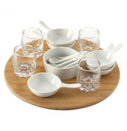 Set appétitif - 14 pièces - Porcelaine et Bambou