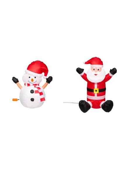 Personnage de Noël gonflable - H 70 cm - Modèle aléatoire