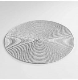 Lot de 4 sets de table - D 35 cm - Zebulon - Gris