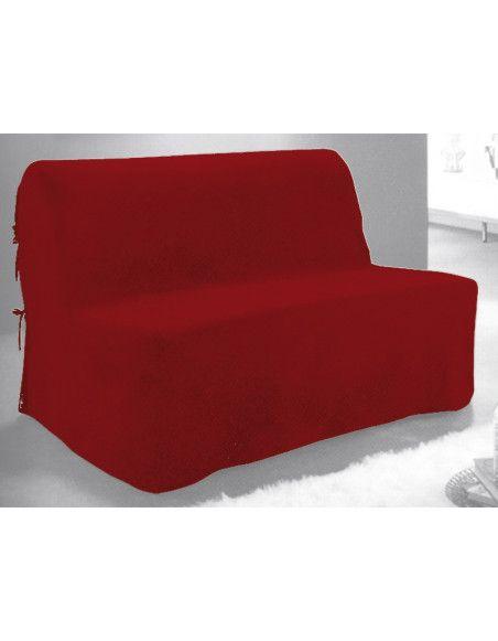 Housse BZ - Rouge - 140 x 200 cm fermeture nouettes