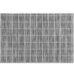 Lot de 4 sets de table - L 45 cm x l 30 cm - Couki - Noir et blanc