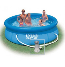 Kit piscine autoportante 3m05 - Piscine ronde - Easy Set - Intex