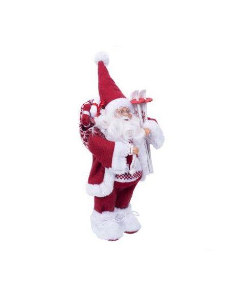 Père Noël debout - Traditionnel - L 18 cm x P 12 cm x H 30 cm