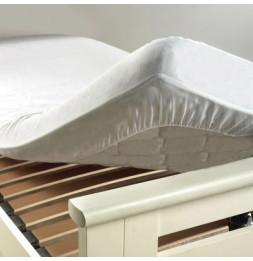 Protège matelas anti acarien - 180 x 200 cm -Molleton 100 % coton - Blanc
