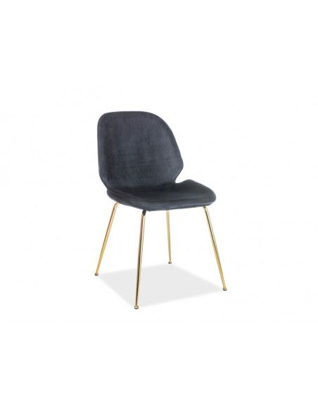 Chaise - Adrien - L 50 cm x l 42 cm x H 87 cm - Gris