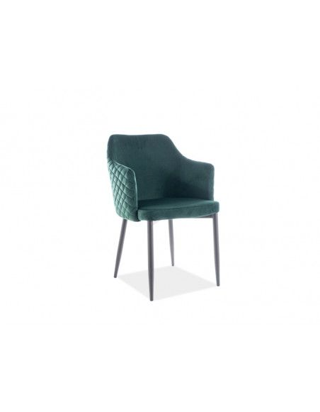 Chaise en velours - Astor - L 46 x l 46 - Vert