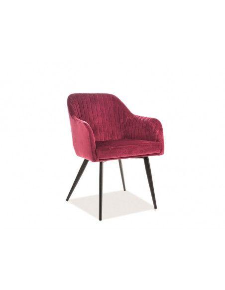 Chaise Elina - L 48 x l 47 x H 82 cm - Rouge